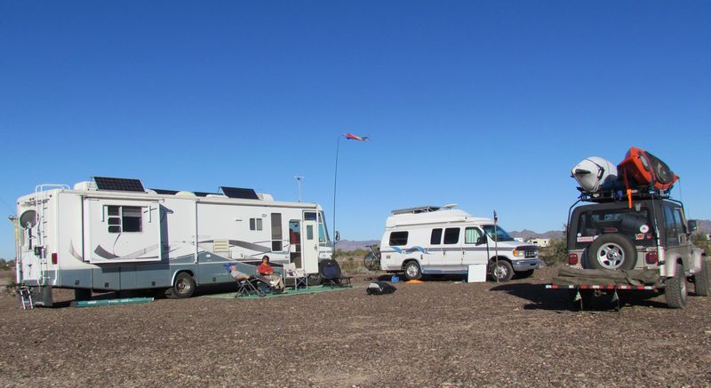 Camped at RoadRunner south of Quartzite AZ