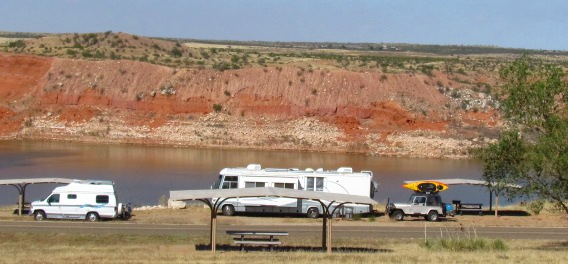 Free Campgrounds on Lake Meredith National Recreational Area Texas
