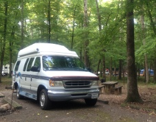 1997 Coach House Van Motorhome camped at Shores Lake State Park in Ozark, AR.
