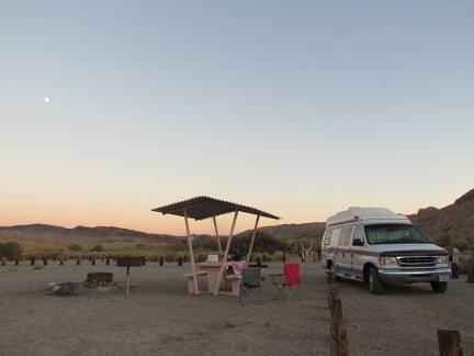 Camped at Afton Canyon Campground in CA
