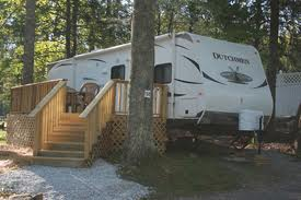 Rental Camper at a Campground